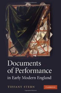 Documents of Performance in Early Modern England free download