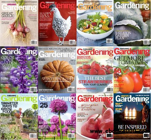 Organic Gardening Magazine 2009 - 2010 Full Collection free download