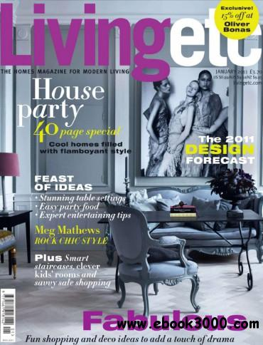 Living Etc - January 2011 free download