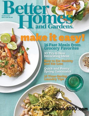 Better Homes and Gardens - March 2011 free download