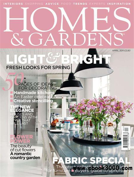 Homes & Gardens - April 2011 free download