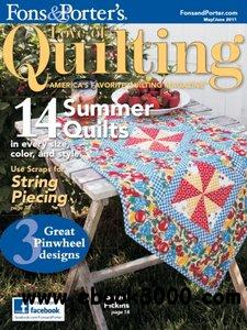 Love of Quilting - May June 2011 free download