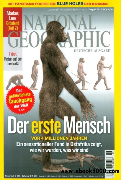 National Geographic Deutschland Magazin August No 08 2010 free download