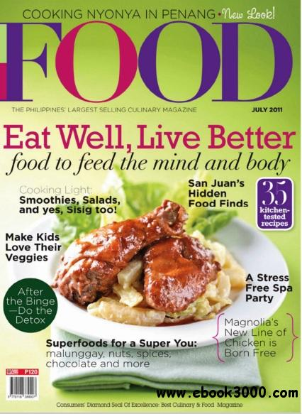 Food Magazine Philippines - July 2011 free download
