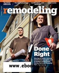Remodeling Magazine - July 2011 free download