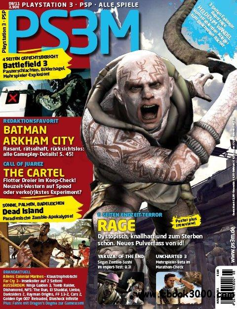 PS3M Das Playstation Magazin August No 08 2011 free download
