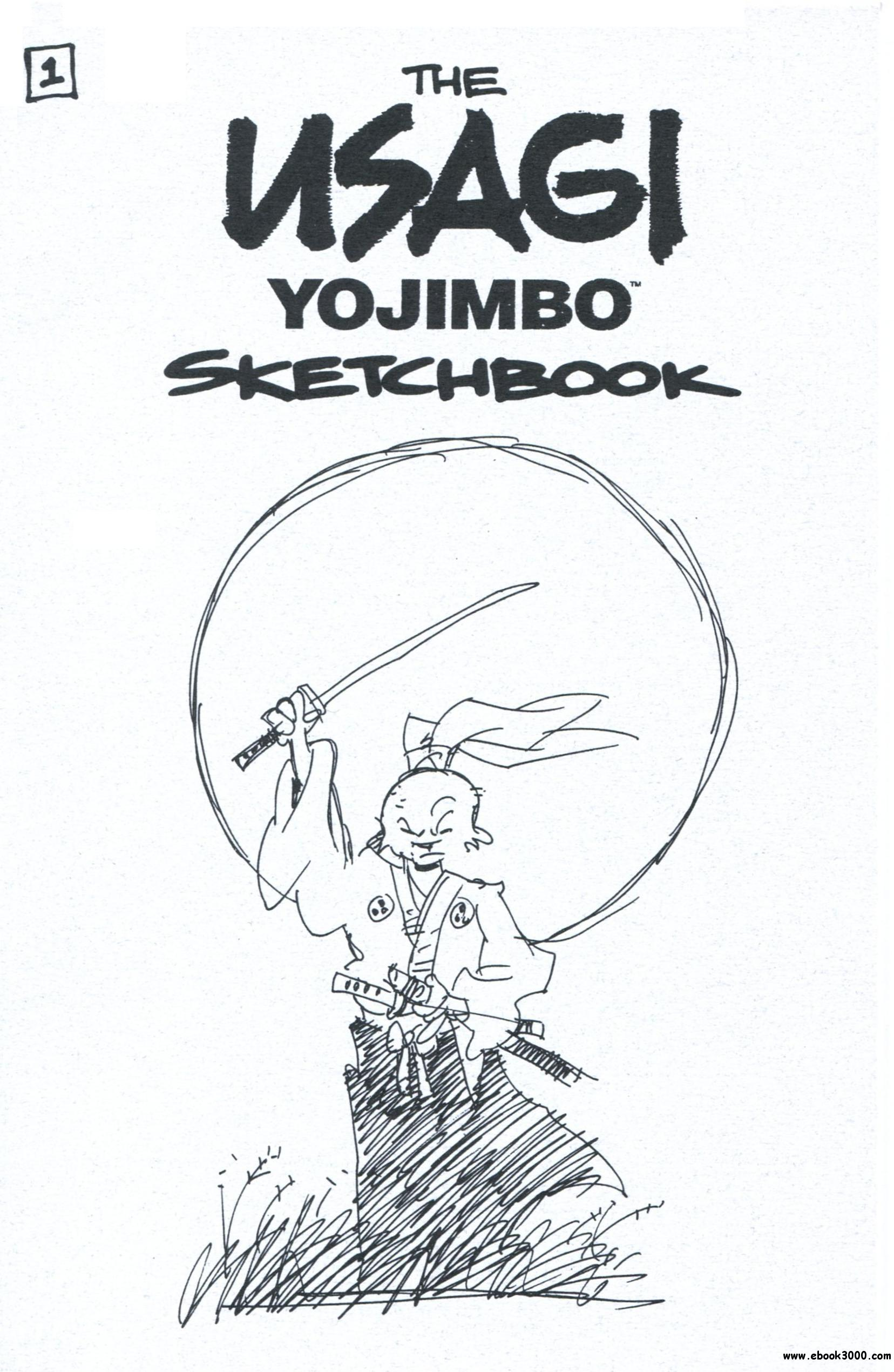 Usagi Yojimbo SDCC Sketchbook #1 (2004) free download