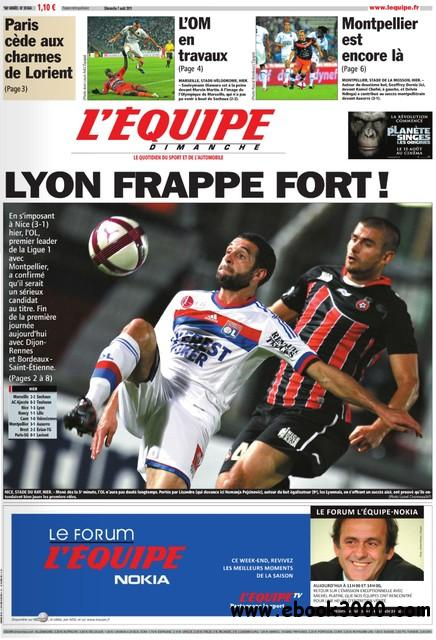 L'EQUIPE (7 Aout 2011) free download