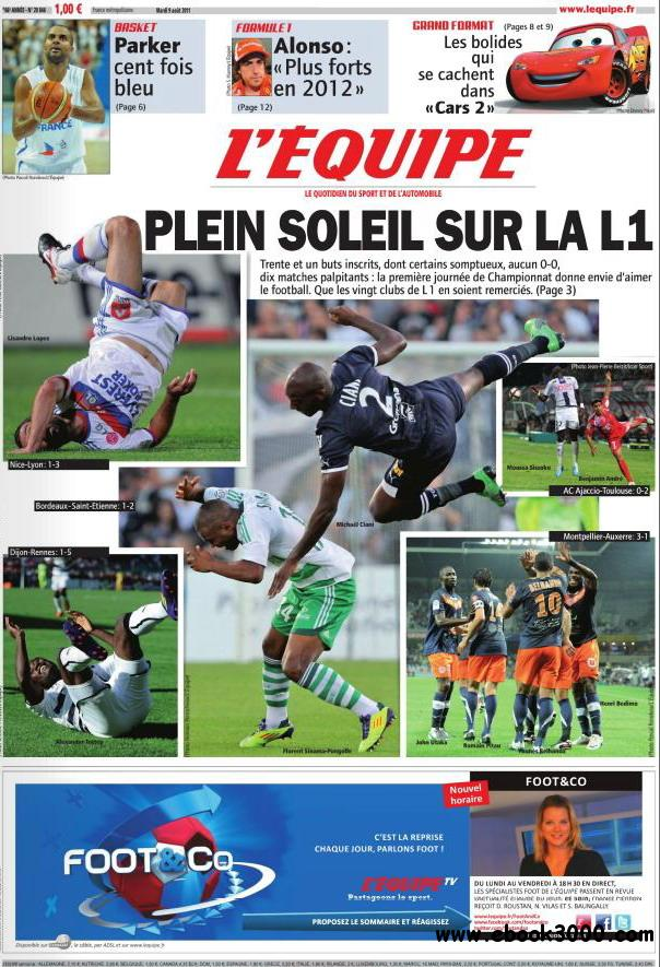L'EQUIPE (9 Aout 2011) free download