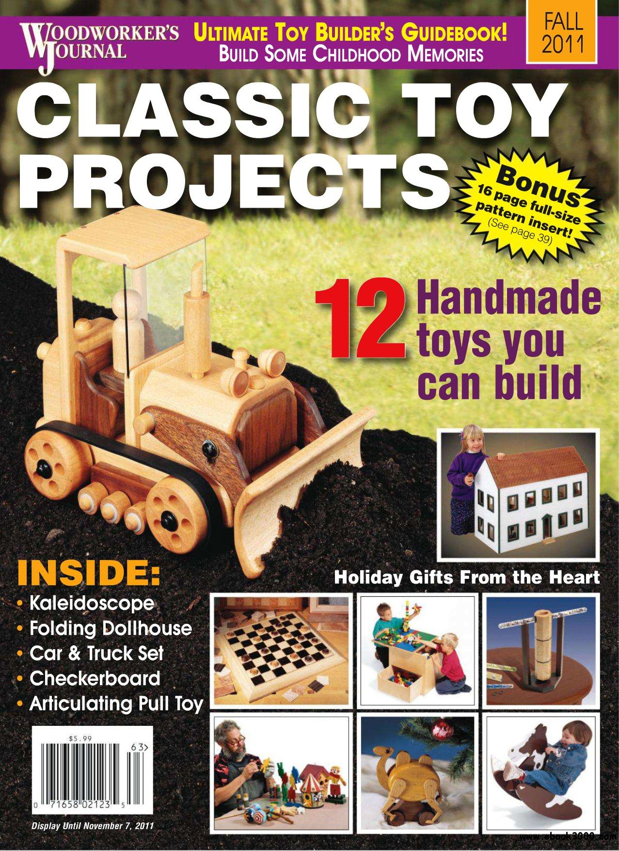 Woodworker's Journal (Fall 2011) Classic Toy Projects free download
