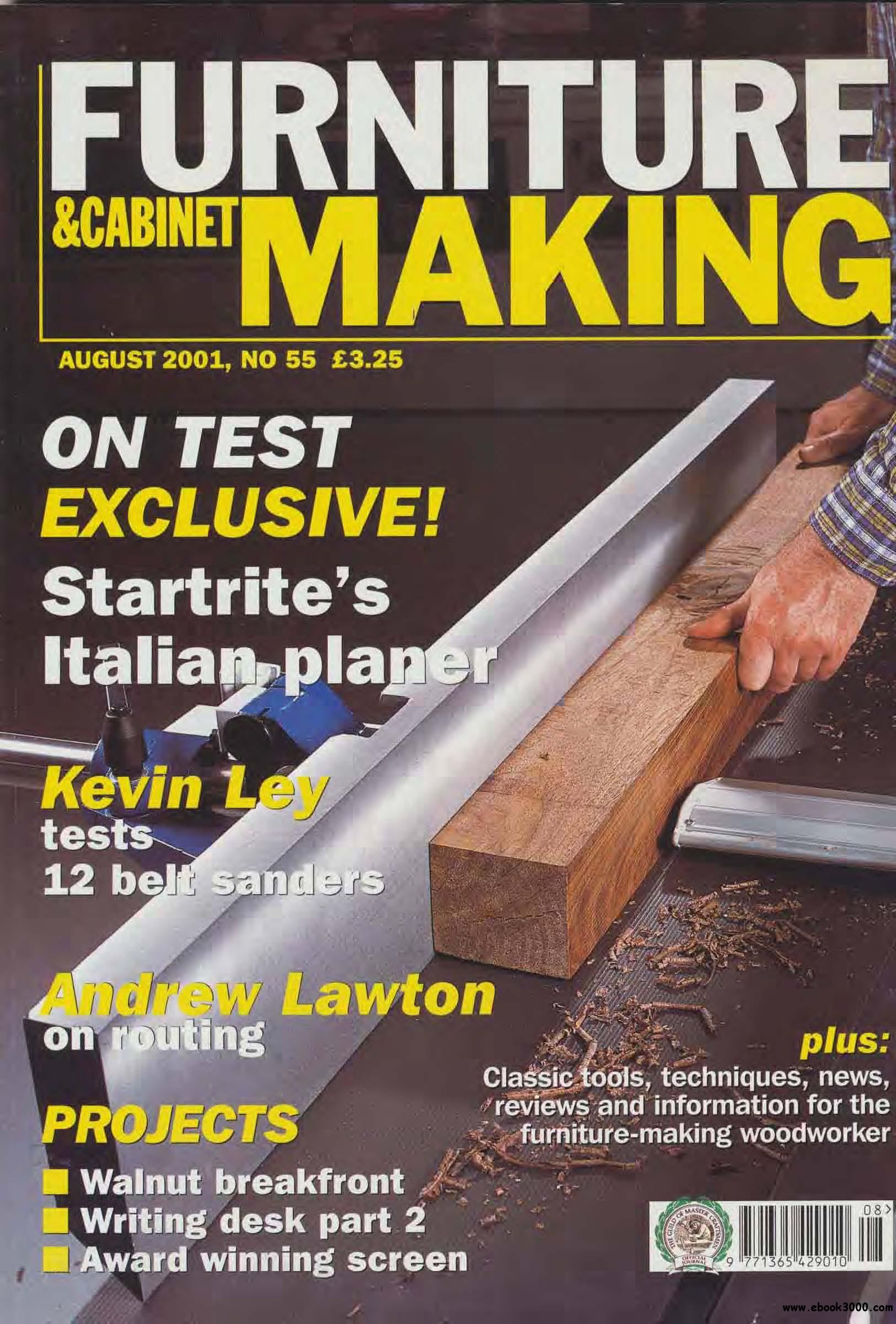 Woodworking Furniture and Cabinet Making #55 (August 2001) free download