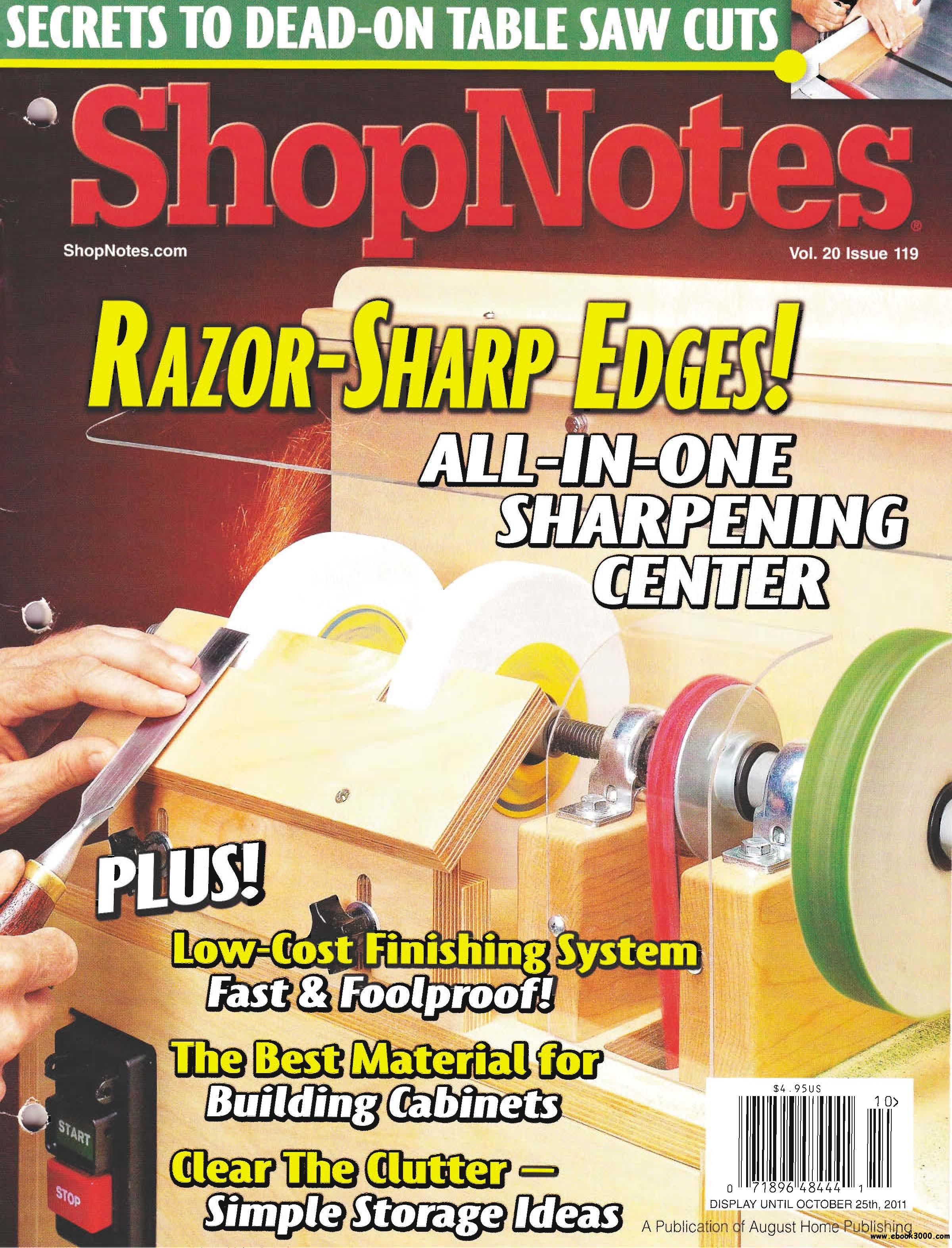 ShopNotes Issue #119 (September - October 2011) free download