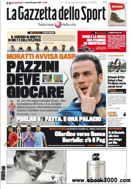 Gazzetta dello Sport (29/08/2011) free download