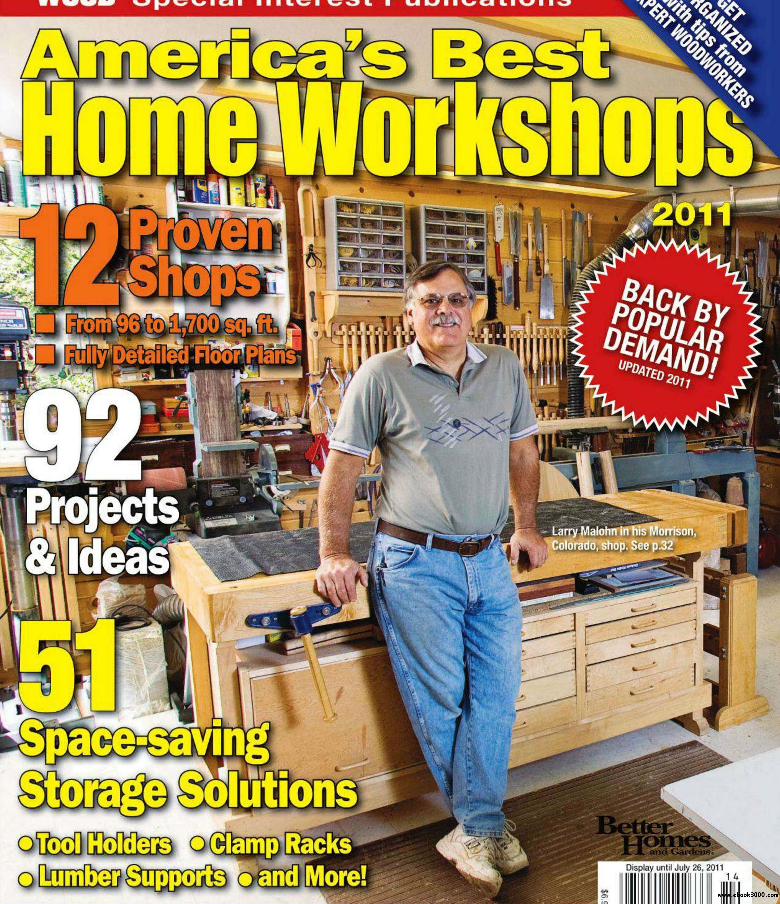 Wood Magazine Special Publications - America's Best Home Workshops 2011 free download