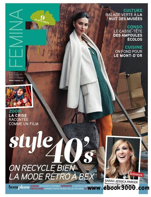 Femina N 38 du 18 au 24 Septembre 2011 free download