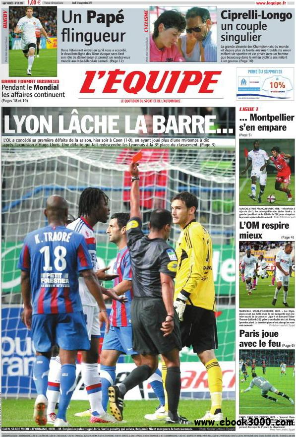 L'EQUIPE (22 Septembre 2011) free download