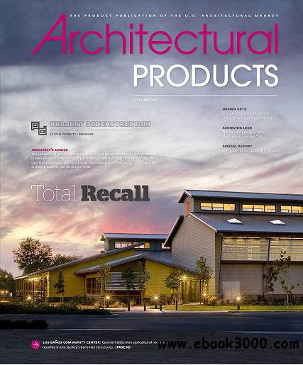 Architectural products magazine september 2011 free for Free architectural magazines