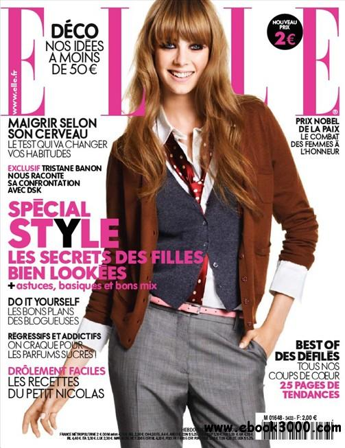 Elle N 3433 du Vendredi 14 Octobre 2011 free download
