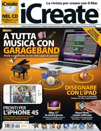 iCreate Italia - Novembre 2011 free download