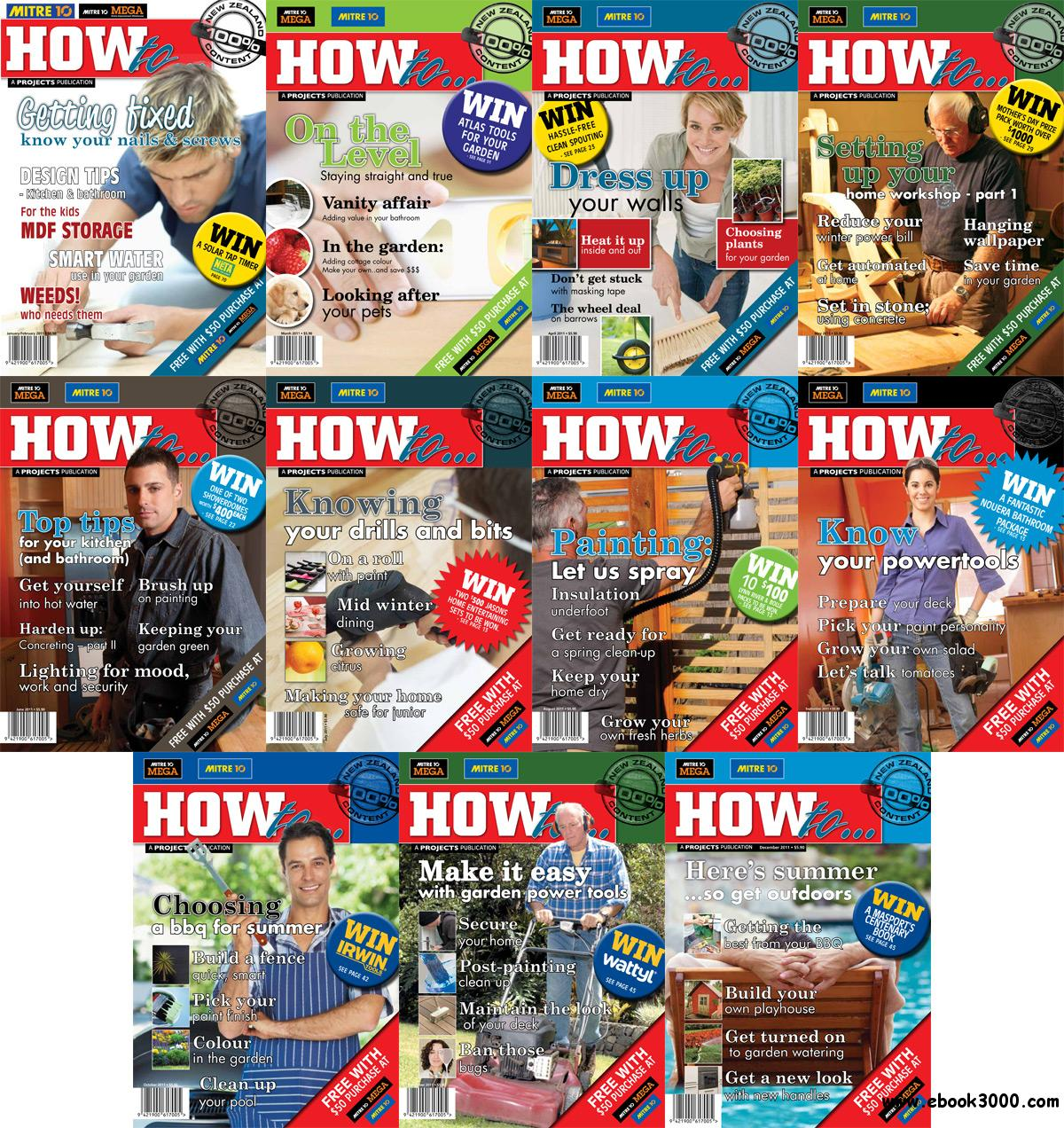 How to... Magazine 2011 Full Year Collection free download