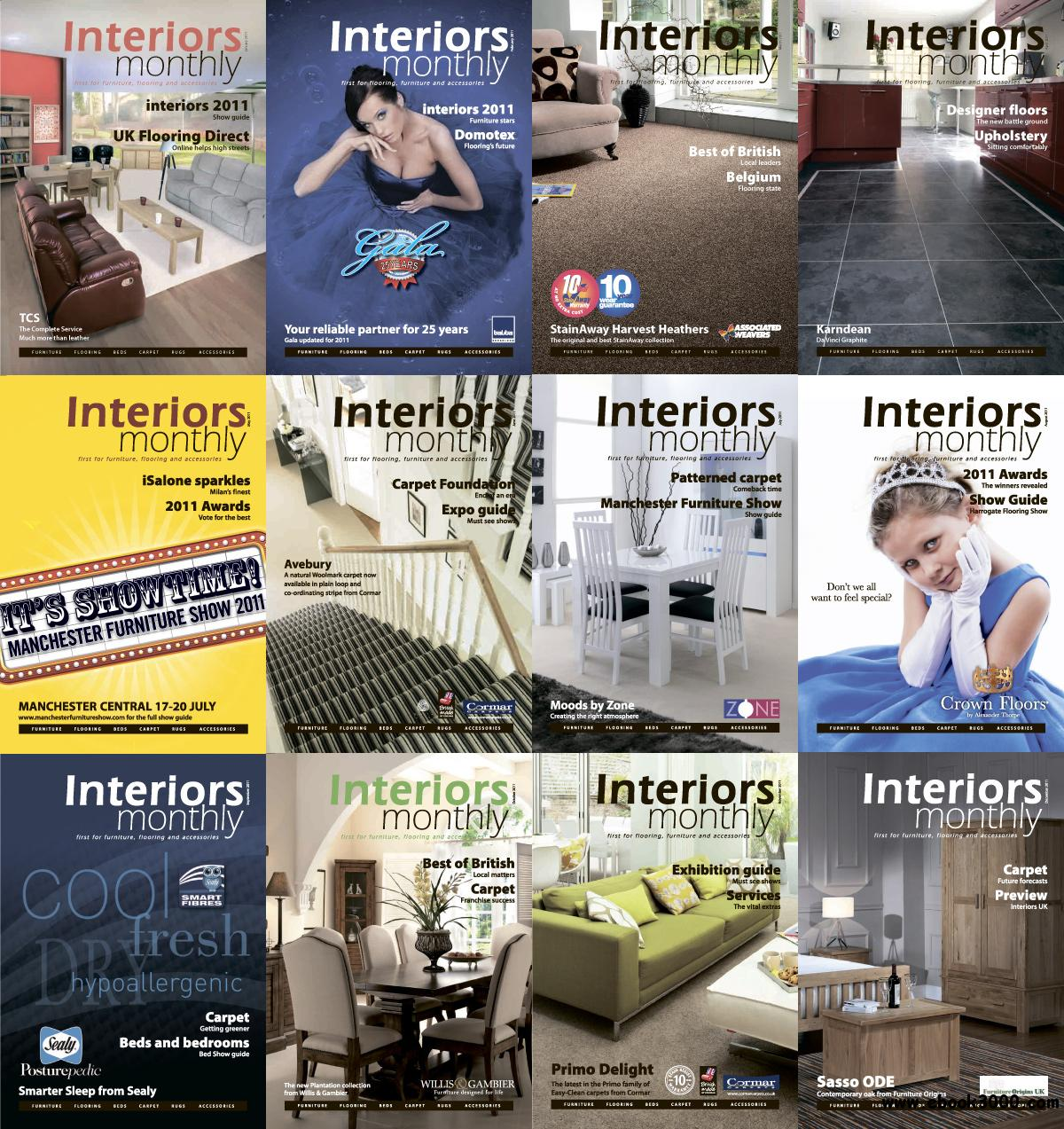 Interiors Monthly 2011 Full Year Collection free download