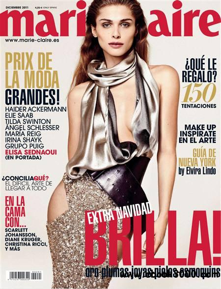 Marie Claire - Diciembre 2011 / Spain free download