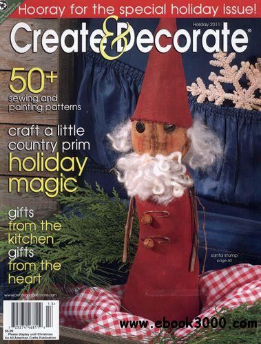Create decorate holiday 2011 free ebooks download for Create and decorate magazine free