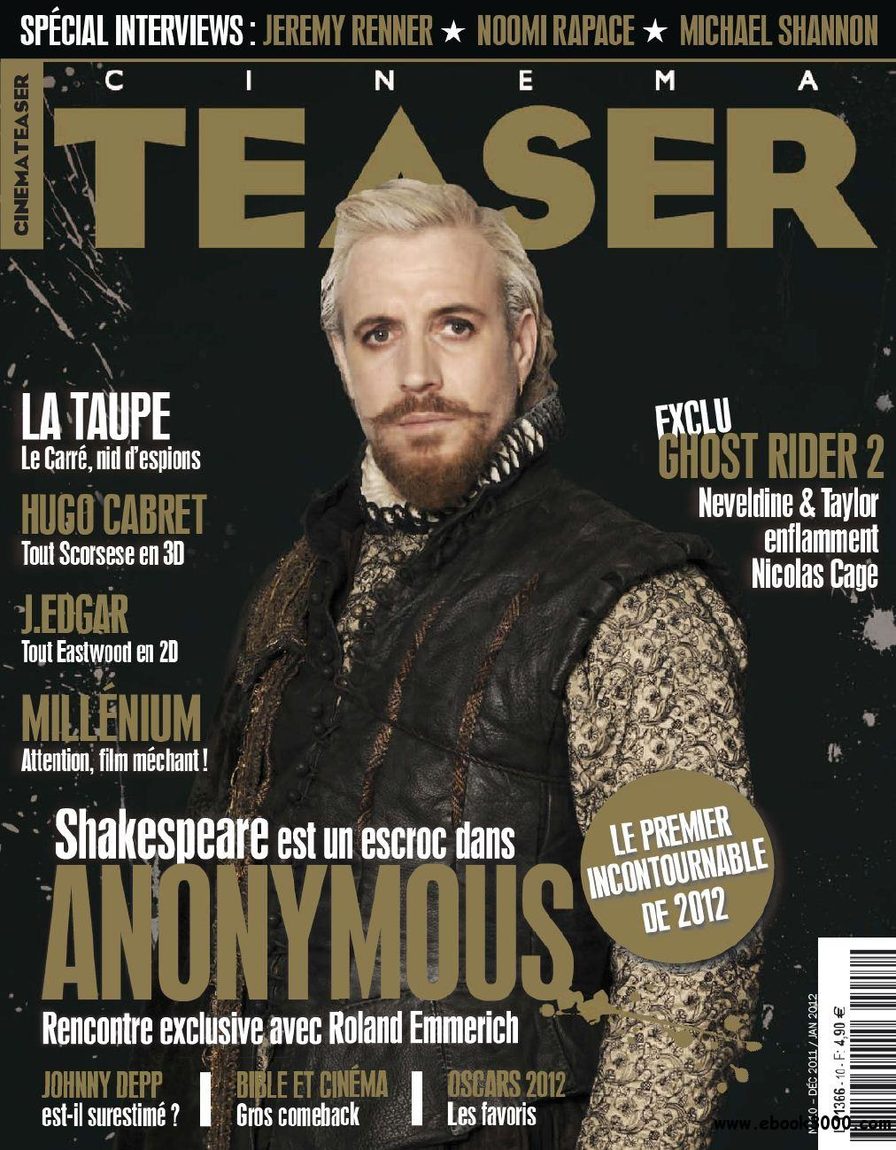 Cinema Teaser N 10 Decembre 2011 - Janvier 2012 free download