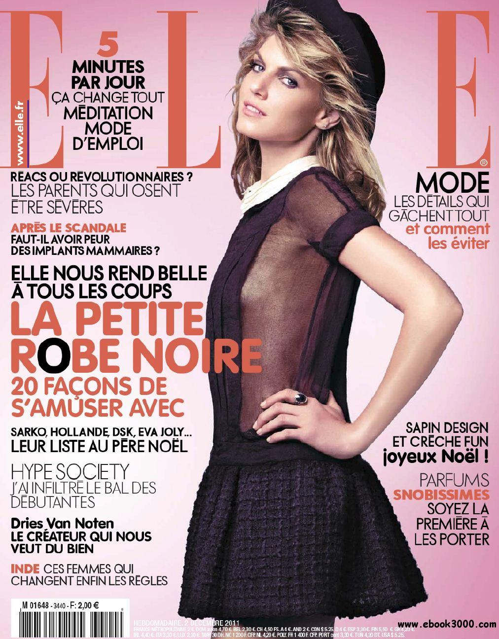 Elle N 3440 et Supplement Elle Paris du 2 au 9 Decembre 2011 free download