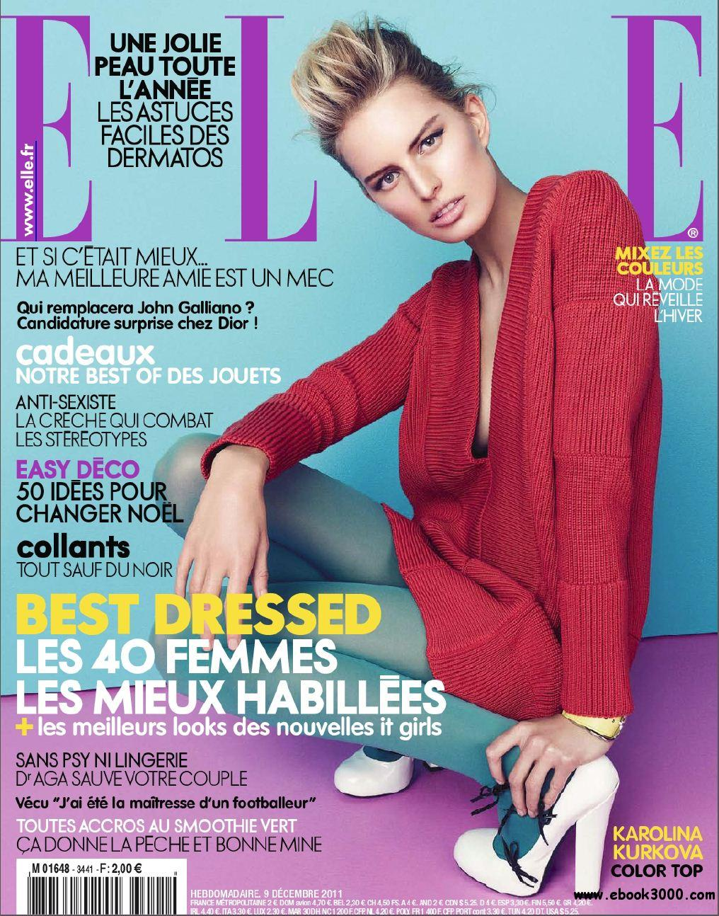 Elle N 3441 & Supplement Elle Paris du 9 au 15 Decembre 2011 free download