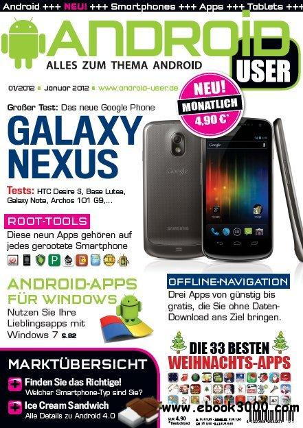 Android User Magazin Januar No 01 2012 free download