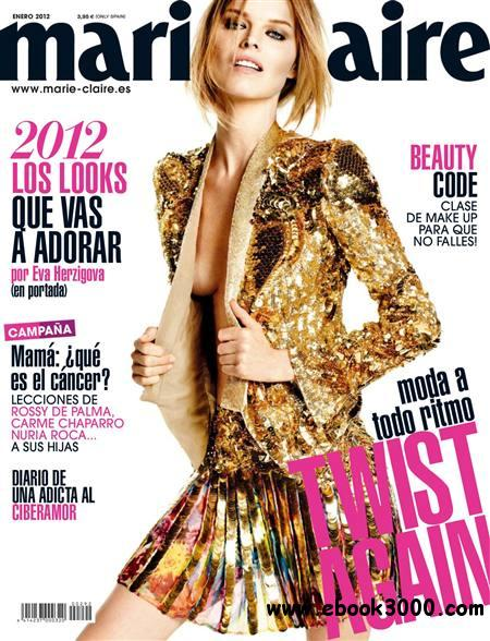 Marie Claire - Enero 2012 / Spain free download