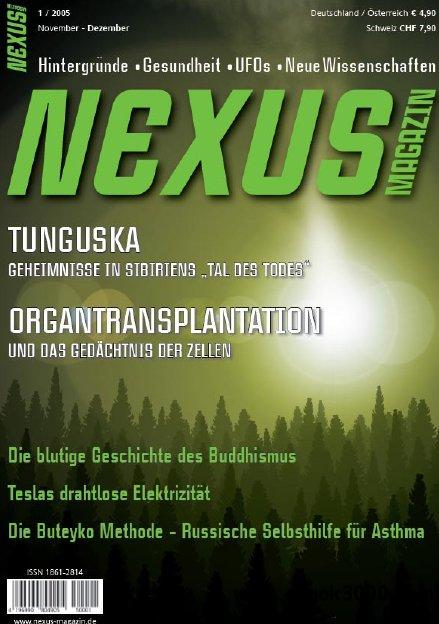 Nexus Magazin Erstausgabe November Dezember No 01 2005 free download