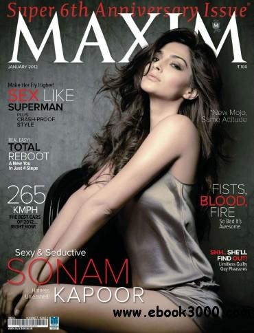 Maxim India - January 2012 free download