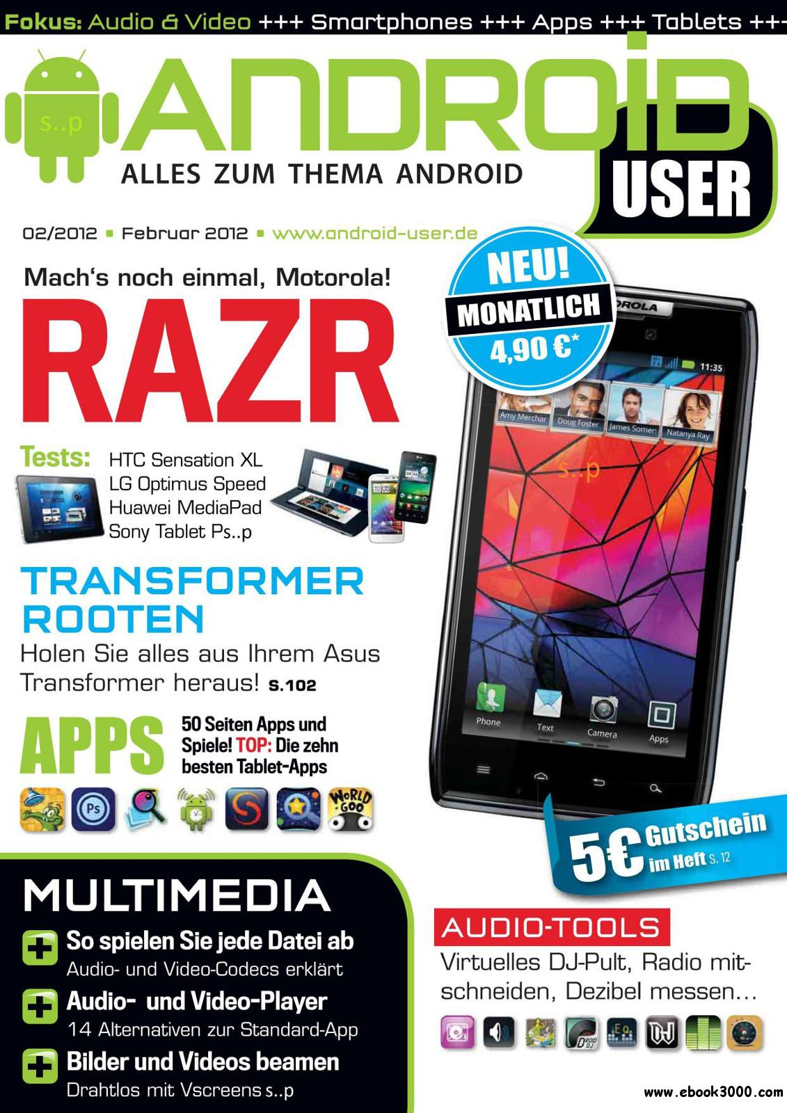 Android User Magazin - Februar 2012 free download
