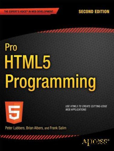 Pro HTML5 Programming free download