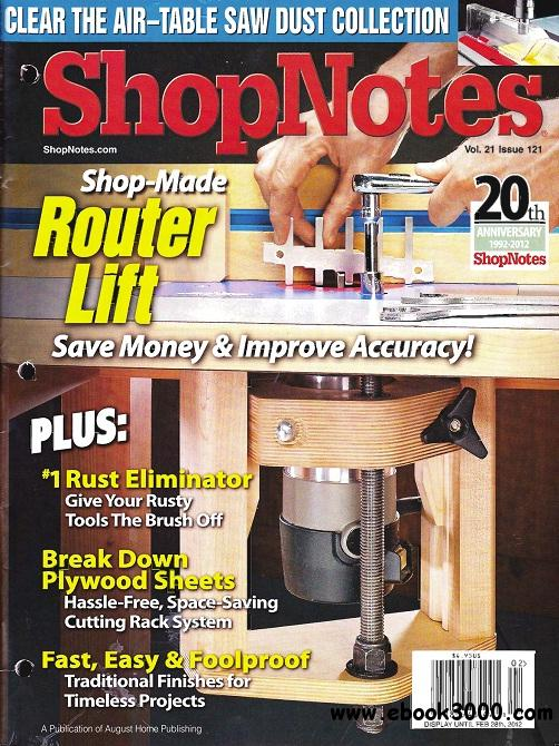 ShopNotes Issue #121 free download
