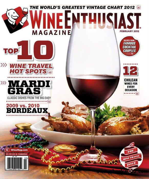 Wine Enthusiast - February 2012 free download