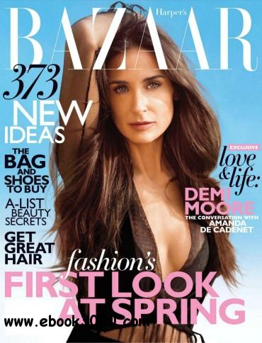 Harper's Bazaar USA - February 2012 free download