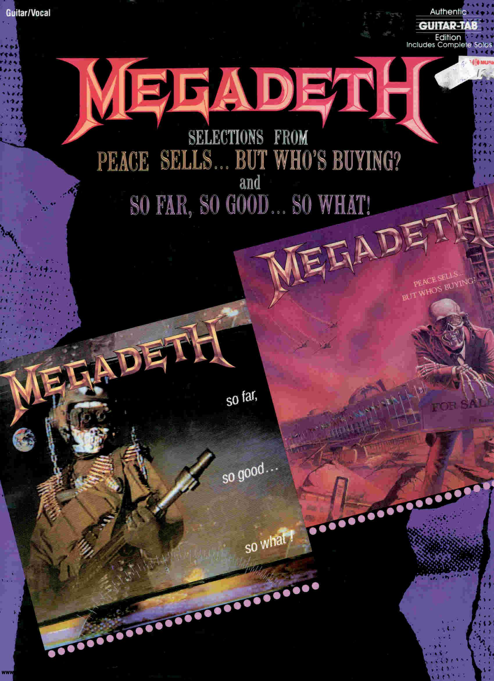 Megadeth - Selections From Peace Sells But Who's Buying & So Far, So Good So What! free download