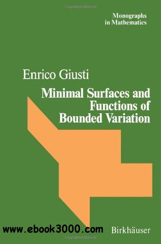 Minimal Surfaces and Functions of Bounded Variation free download