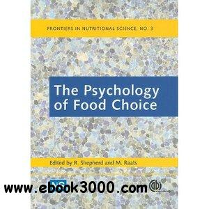The Psychology of Food Choice (Frontiers in Nutritional Science) free download