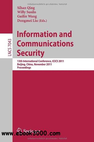Information and Communication Security free download