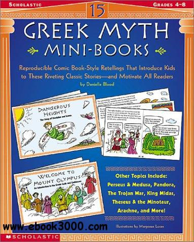 15 Greek Myth Mini-Books: Reproducible Comic Book-Style Retellings free download