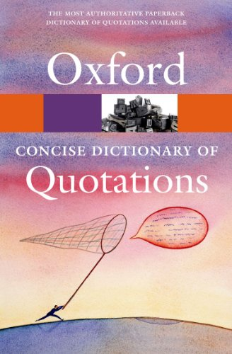 Concise Oxford Dictionary of Quotations free download