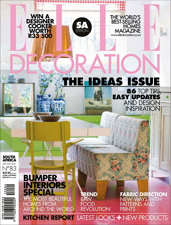 Elle Decoration Magazine (South Africa) April 2012 free download