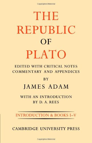 The Republic of Plato, Volume I free download