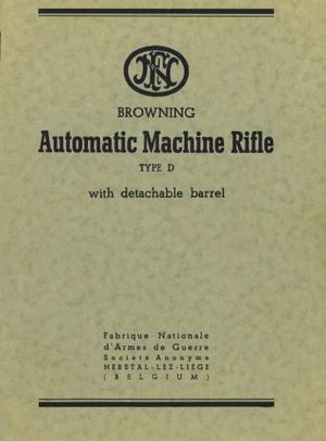 Browning Automatic Machine Rifle Type D with detachable barrel free download