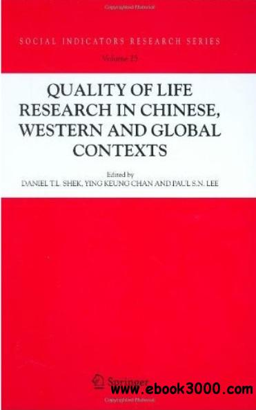 Quality-of-Life Research in Chinese, Western and Global Contexts free download