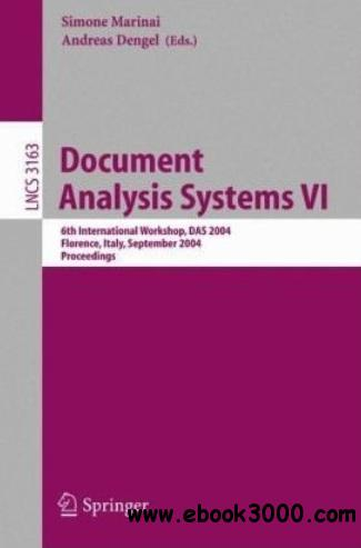 Document Analysis Systems VI free download